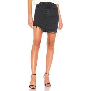 GRLFRND Rhoda High-Low Mini Denim Skirt